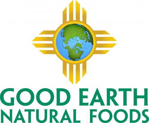 Good Earth Natural Foods Logo featuring Zea sun with the earth in the center