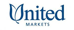 United Markets logo. Ross Valley Charter receives 3% of your purchase total when you use your RVC community card at United Markets.