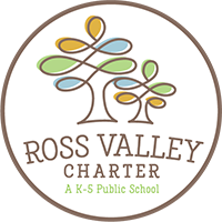 Logo for Ross Valley Charter School, a TK-5 public school in the Ross Valley School District