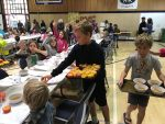 Ross Valley Charter Fifth Graders Serve the Gratitude Feast