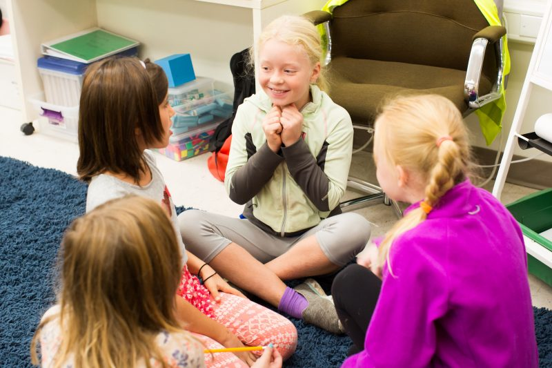 RVC Stands for Ross Valley Girls - Girls engage in classroom discussion at RVC.