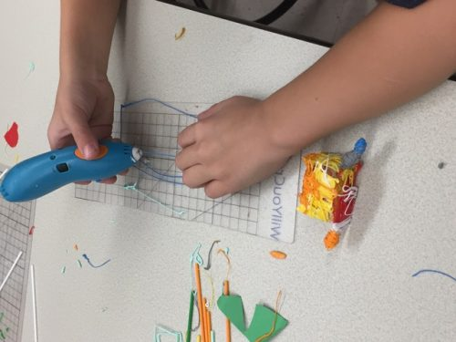 Ross Valley Charter Stands for STEAM - a student uses a 3-D pen to bring their imagination to life.
