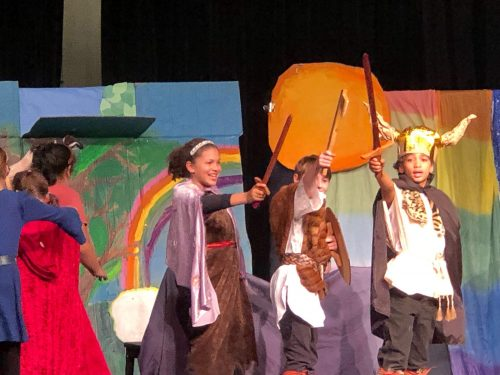 Ross Valley Public School Students enjoy stage performance and performing arts, singing, and dance as a way to express their academic learning on Norse Mythology