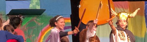 Students perform and sing Norse myths in arts-integrated academic elementary school at Ross Valley Charter