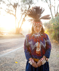 Image of woman in native American dress