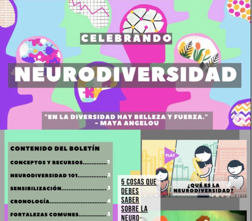 Picture of our neurodiversity newsletter